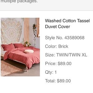Urban Outfitters bedding set